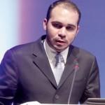 Jordan's Prince Ali bin al-Hussein, head of the Jordan Football Federation, speaks during the 24th AFC congress in Doha